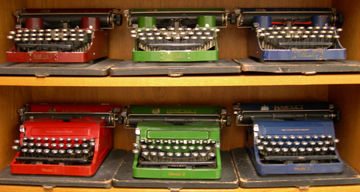 Barlet Portable.  Chestnut Ridge Typewriter Museum